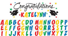 Graduation Giant Party Banner 5 ft Personalize For Your Graduate!