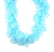 "Lt Turquoise Teal Chandelle Feather Boa 72"" 60 gm 6 Ft Masquerade Costume Bachelorette"