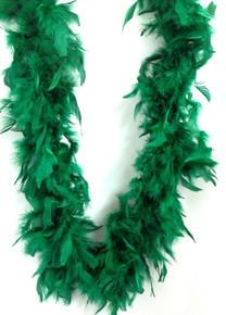 "Emerald Green Chandelle Feather Boa 72"" 6Ft 6 Ft Masquerade Costume Bachelorette"
