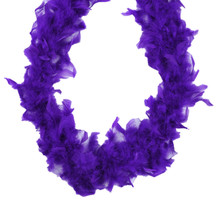 "Dark Purple Feather Boa 6 ft 40 gm 72"" Masquerade costume Chandelle"