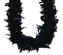 "Black Chandelle Feather Boa 72"" 6 ft Masquerade Bachelorette Party Costume 40 gm"