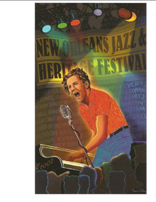 2007 Jerry Lee Lewis New Orleans Jazz Festival Poster Post Card Postcard