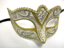 Cream Gold Silver Small Child Teen Ornate Masquerade Mardi Gras Mask Prom Dance