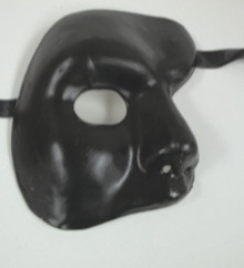 Black Phantom of The Opera Costume Masquerade Mardi Gras Party Mask