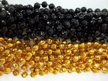 48 New Orleans Saints Disco Ball Mardi Gras Beads Party Favors Necklace 24 Black 24 Gold