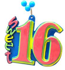 Sweet 16 Birthday Mardi Gras Beads Party Favor