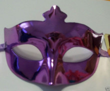 Purple Venetian Mardi Gras Masquerade Metallic Party Mask