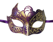 Purple Gold Venetian Mask Masquerade Mardi Gras