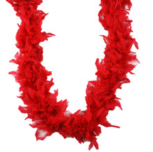 """Red Feather Boa 40 gm 6 ft Masquerade Costume Dress Up Chandelle 72"""""""