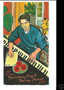2004 Harry Connick Jr New Orleans Jazz Festival Poster Post Card Postcard