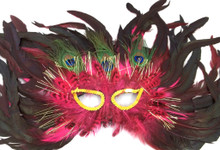 Peacock Flame Feather Mask Masquerade Costume Ball