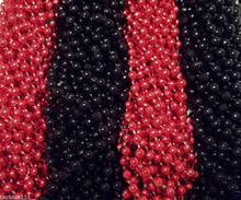 Red Black Falcons Mardi Gras Beads Football Tailgate Necklaces 24 48 72 144