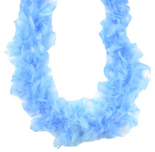 """Light Blue 65 Gm 6 ft Masquerade Costume Dress Up Baby Shower 72"""" Chandelle Feather Boa"""