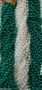 36 Pearl and Green St Patricks Mardi Gras Beads Party Favors Necklaces (3 Dozen)