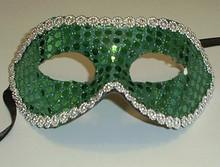 Green Sequin Masquerade Party Value Mardi Gras Halloween Mask