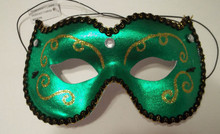 Green Gold Jewel Masquerade Costume Party Mask Classic