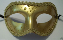 Gold Mardi Gras Masquerade Party Value Mask