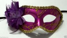 Dark Purple Rose Flower Masquerade Party Value Mardi Gras Halloween Mask