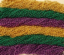 """720 33"""" New Assorted Mardi Gras Colors PGG Beads Case Huge Lot"""