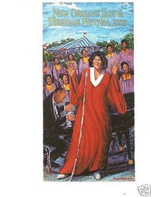 2003 New Orleans Jazz Festival Poster Postcard Mahalia Jackson