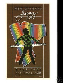1981 New Orleans Jazz Festival Poster Post Card Postcard