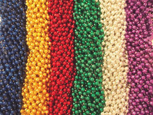 120 (10 Dozen) Mardi Gras Beads Carnival Parade Necklaces Lot Party Favors