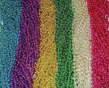 12 6 Color Mardi Gras Beads Necklaces Party Favors 1 Dozen Lot