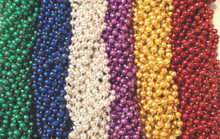 100 Asst 6 color Mardi Gras Gra Beads Necklaces Party Favors Lot