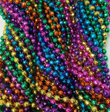 72 Neon Faceted Disco Mardi Gras Beads Necklaces Party Favors