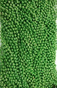 Lime Green Mardi Gras Beads Necklaces Party Favors