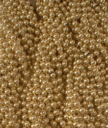 Gold Mardi Gras Beads Necklaces Party Favors