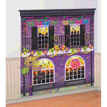 Mardi Gras Scene Setter Wall Decoration Kit New Orleans Balcony