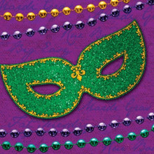 Rue Bourbon Mardi Gras Party Beverage Napkins