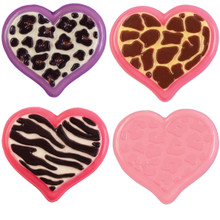 Wilton Candy Melts Mold Animal Prints Heart 3 Hearts Design 3 Cavities Valentines Day