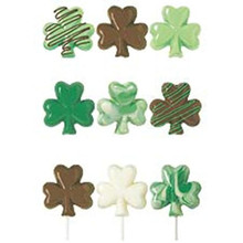 Wilton Candy Melts Shamrock Lollipop Mold Clover St Patricks Day makes 6