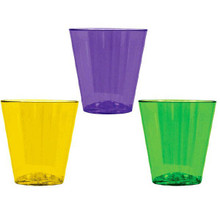 Mardi Gras 40 Plastic Shot Glasses 40 Ct