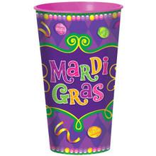 Mardi Gras Large Plastic Cup 32 oz