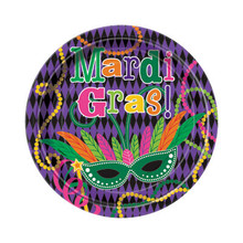 "Mardi Gras Party Dessert Plates 7"" 8 ct"
