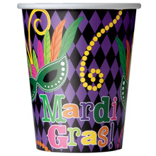 Mardi Gras! Party Paper Cups 8 ct