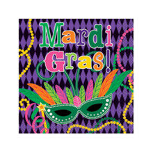 Mardi Gras! Party Paper Napkins Beverage 16 ct