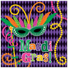 Mardi Gras! Party Luncheon Napkins,  16 ct