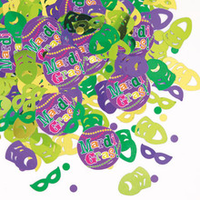 Mardi Gras! Party Confetti .5 oz package Paper and Foil