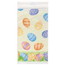 Spring Easter Egg Plastic Tablecover 54 x 84