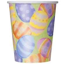 Spring Easter Egg 9 oz Paper Hot Cold Cups, 8 ct