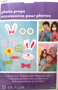 Easter Photo Props 10 ct Bunny Ears Carrot Chick Daisy Bow Spring Party