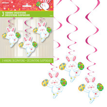 Easter Bunny Eggs 3 Hanging Swirl cutouts Party