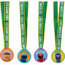 Sesame Street 12 Medal Assortment Grover Elmo, Ernie, Cookie