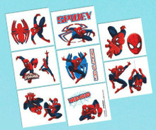 Spiderman Birthday Party 16 Tattoos Favors Party Supplies