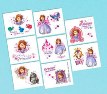 Sofia the First Princess Birthday Party 16 Tattoos Favors Party Supplies