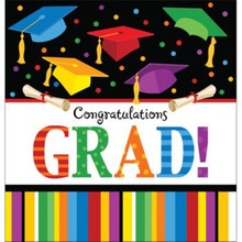 "Graduation Fest Lunch Napkins 18 ct ""Congratulations Grad"" Party"